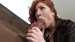 Big Black Cock For A Redhead Milf