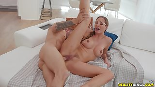 She's married but she doesn't mind fucking her step son