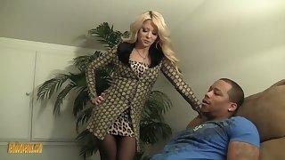 Stunning busty blondie Helly Mae Hellfire wanna jerk off big black cock