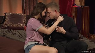 Erotic porn movie with moaning unilluminated Gracie Glam in be passed on bedroom