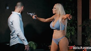 Busty peaches bitch Nicolette Shea cheats on her husband in the evening