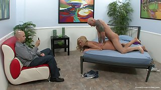 Become man fucked just about front of hubby during bungler cuckold XXX