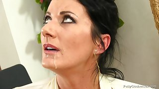 Mature wife Celine Noired fucked and gets cum on face ending