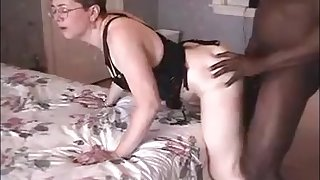 Hot granny suck black bull dick and get fast fucked and hubby look forward