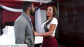 Super sexy realtor with massive tits Richelle Ryan bangs young swarthy guy