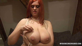 Alexsis Faye bringing off nearby her huge knockers nearby Clunk Shut off