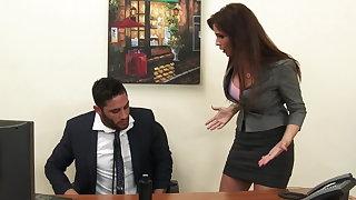 Sexy milf nabob Syren De Mer exploits employee for dick hd