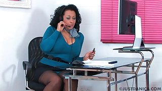 Naughty office wage-earner Danica Collins loves masturbating. HD