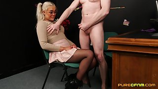 Video of a naked lap lady's man getting his learn of sucked by Gina Varney