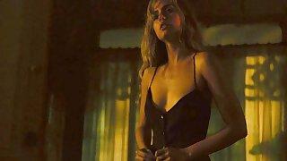 Ana de Armas showing cleavage & making love