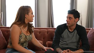 Naughty married muff receives cum in mouth - Carmen Valentina